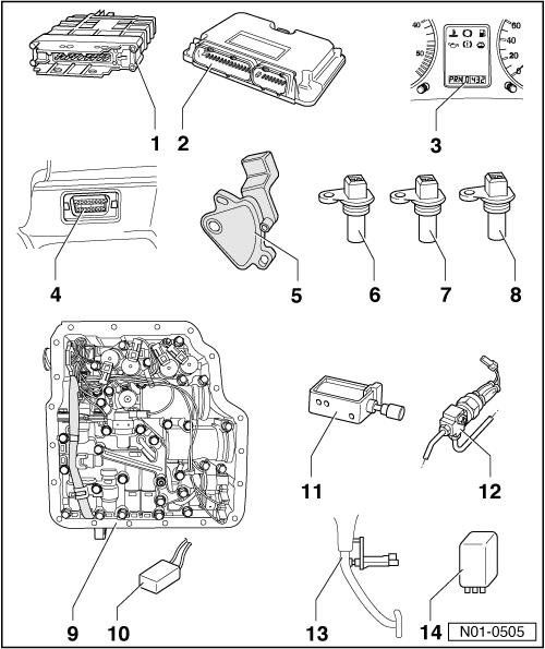 5 speed engine diagram