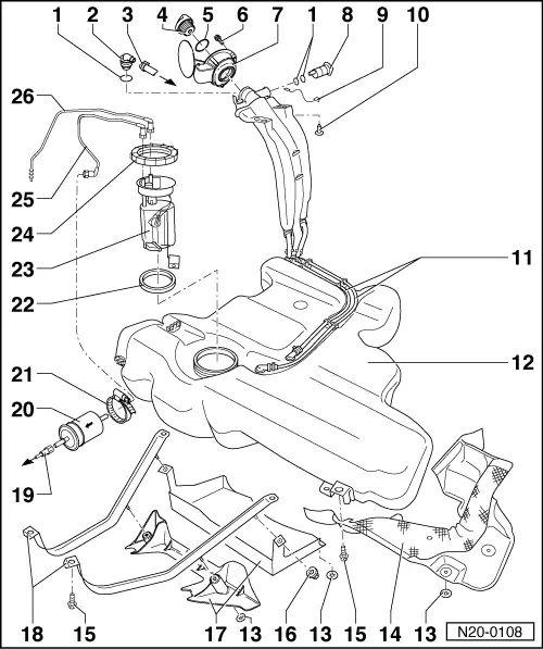 volkswagen golf 3 fuel filter