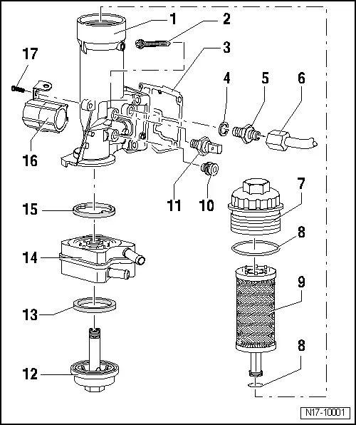 vw fuel filter bracket