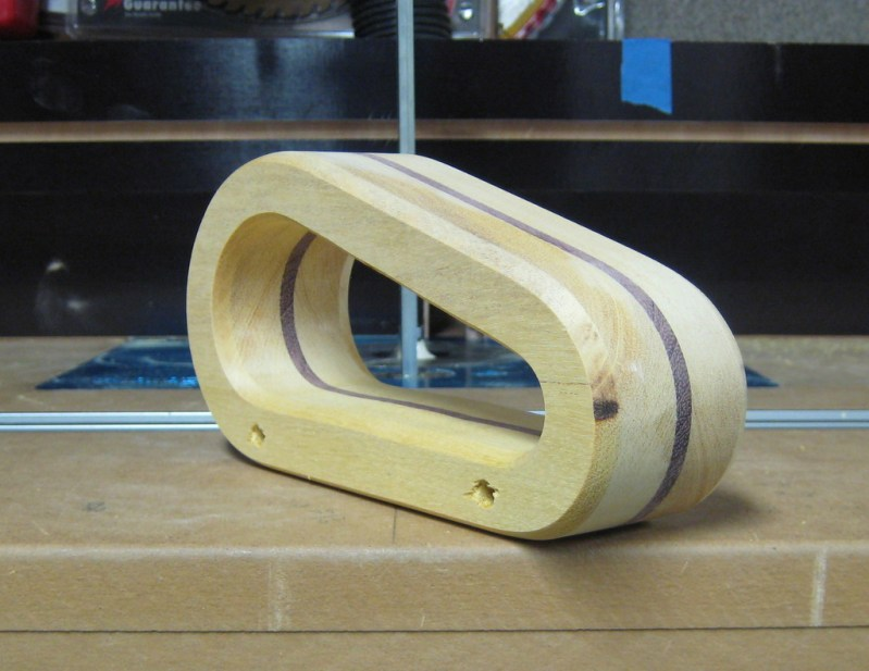 Skipped a few steps...shaped with the oscillating sander and working on the roundover