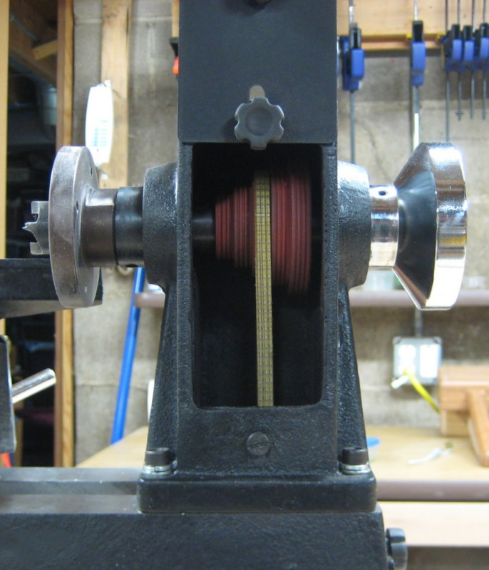 Upper pulley and belt