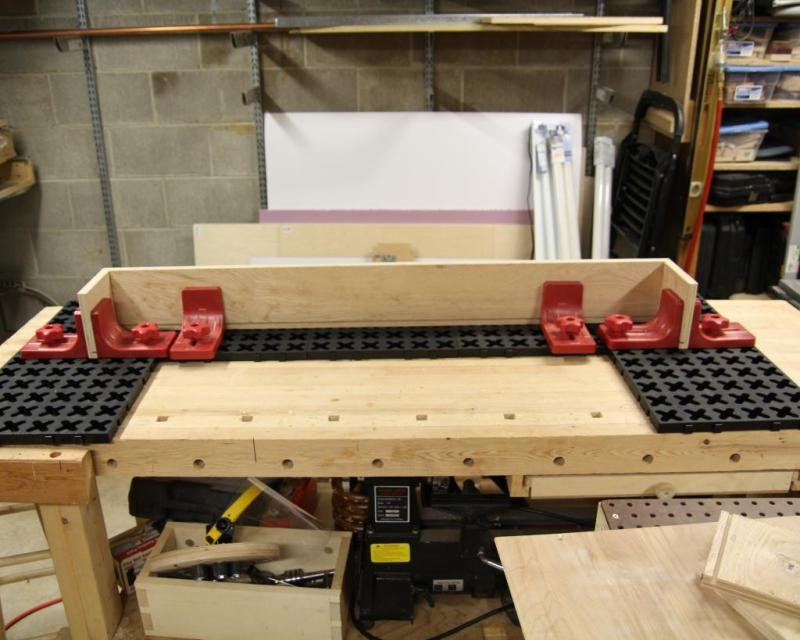 5 - Using the X-Mat system to assemble the valance box