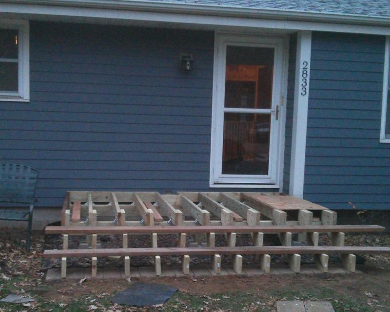 14 - Temporary steps and decking for the night