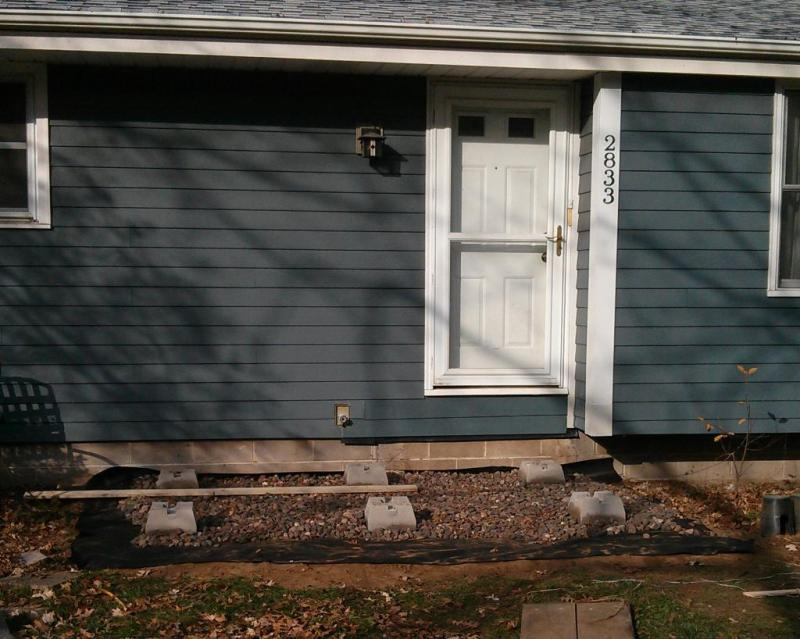 6 - Patching up the siding