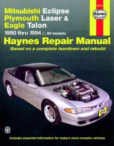 1990 Eagle Laser Plymouth Talon Electrical System Relay Control