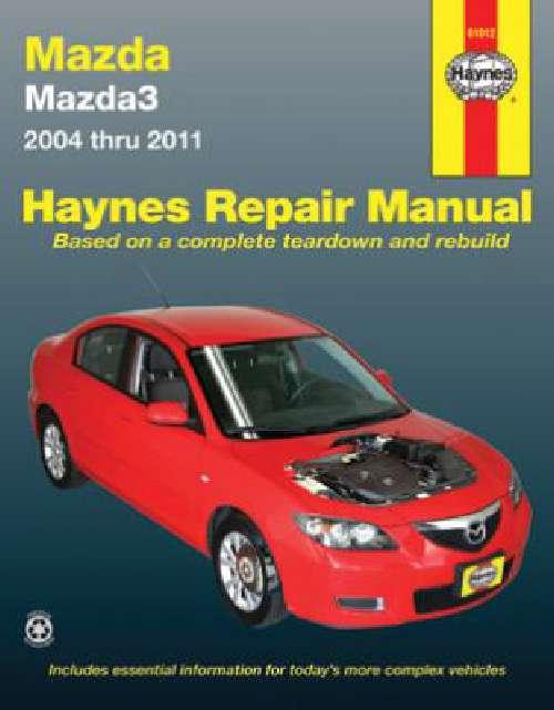 mazda 3 workshop owners manual