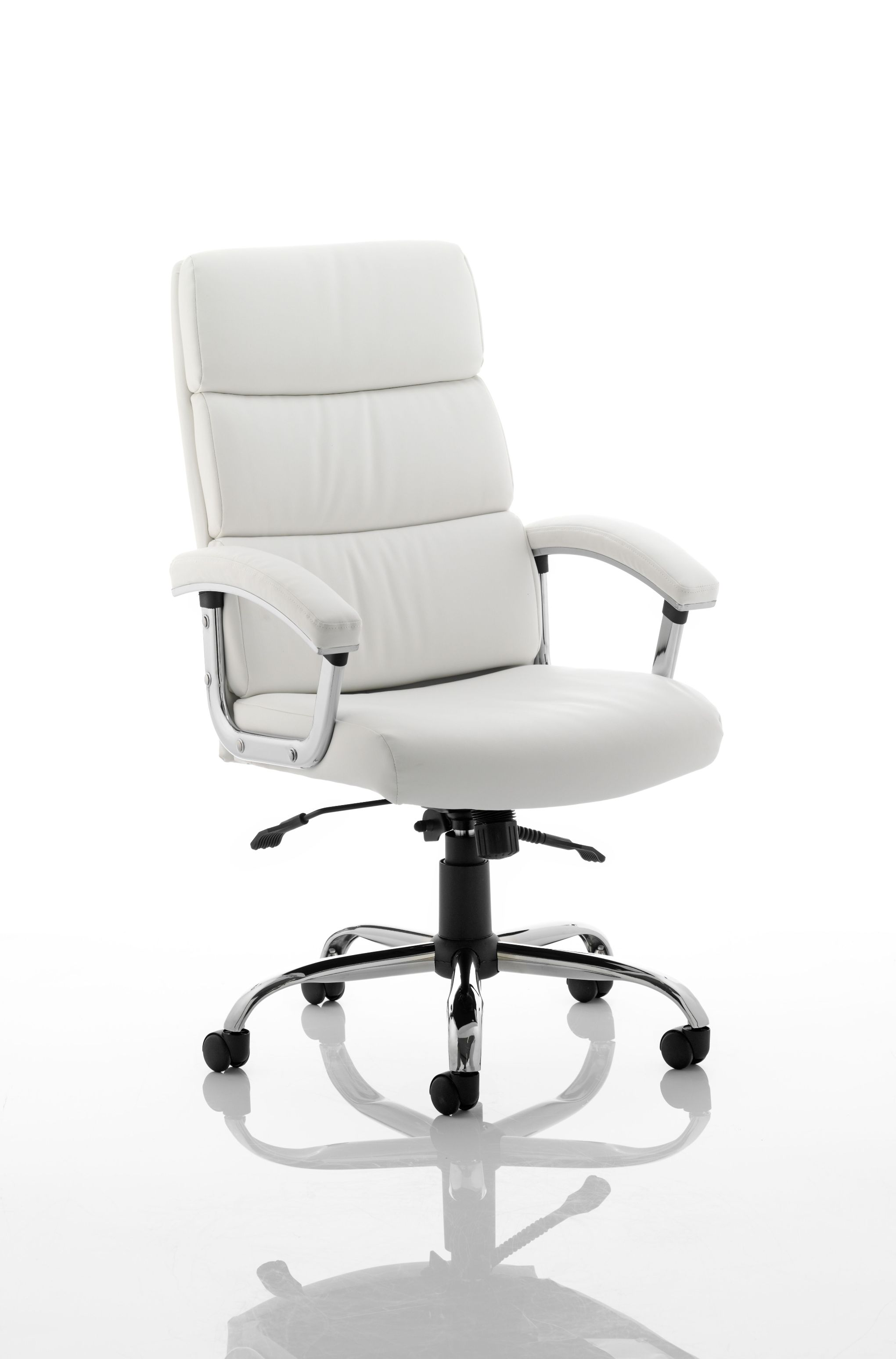 High Back Desk Chair White Leather Executive Office Chairs Office Chairs Uk