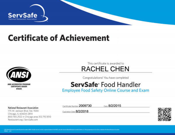 servsafe food handlers certification | Foodstutorial.org