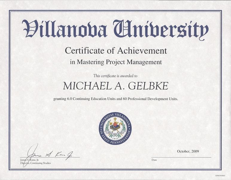 project management cv