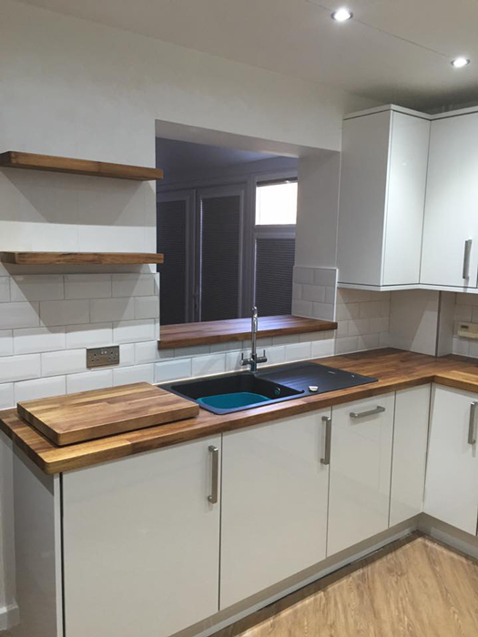 Contemporary Vs Modern Customer Kitchen Wooden Worktop Gallery - Worktop Express