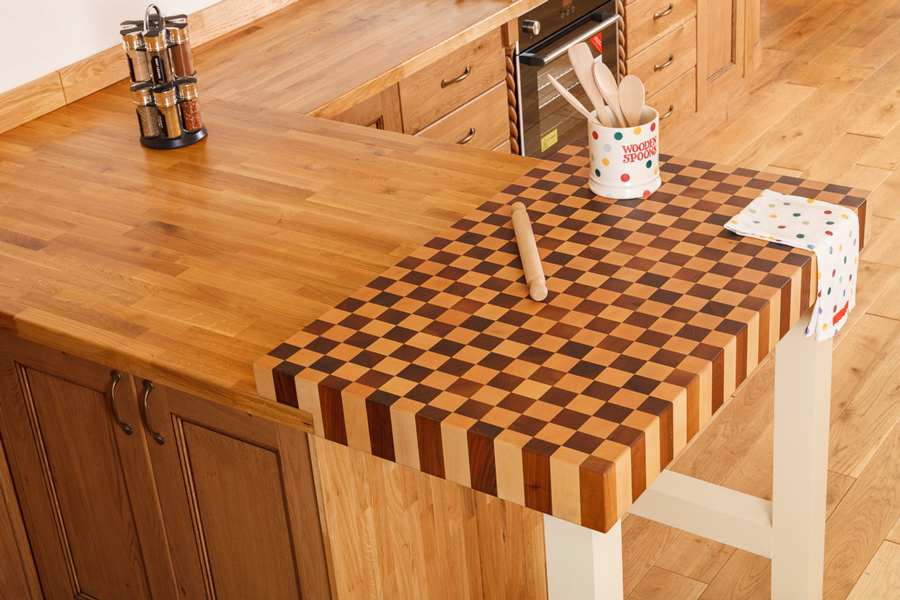Kitchen Island Butchers Block Endgrain Butchers Block Worktops – An Ideal Feature For