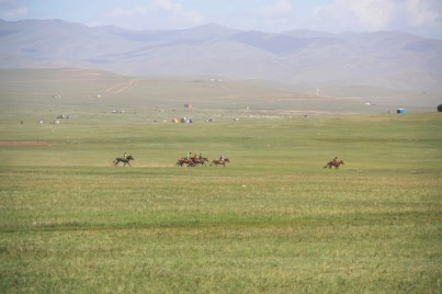 Naadam racers going for the finish line!