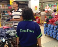 Tesco's special forces... Clean Force