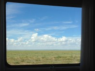 View out the train window.