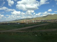 A settlement we passed by near Ulan Bator.