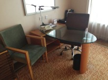 Crowne Plaza Dandong desk