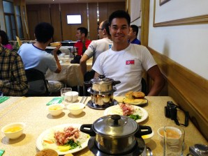Great Korean hot pot feast!