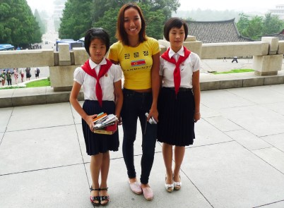 Christina and shy students