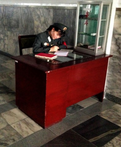 Pyongyang Station Guard Desk