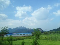 Beautiful views on the drive to Shenyang.