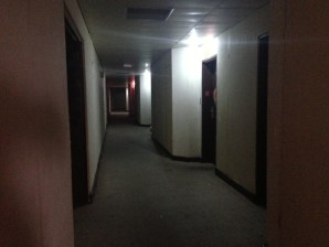 Scary dimly lit hallways