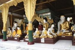 Shwedagon Pagoda Buddhas