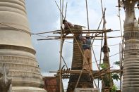 Restoring a stupa
