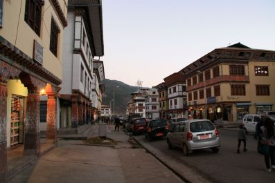 Paro at sunset