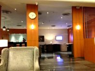 A moment of silence in the Premium Lounge before the flight