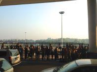 Dhaka Airport Crowds