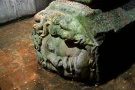 Istanbul Basilica Cistern Medusa Head Sideways