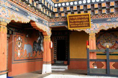 Paro Dzong Court Bhutan