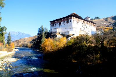 Paro Dzong and River Bhutan