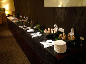 Buffet selection at the Business Class Lounge