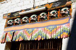 Punakha Dzong Door Statues Bhutan