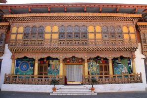 Punakha Dzong Monastery Entrance Bhutan