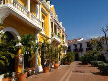 Plaza area of San Pedro ClaverCartagena