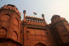 Red Fort Delhi Gate Flag