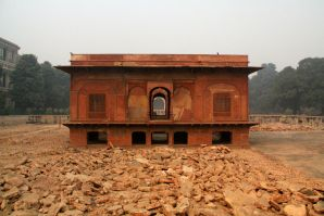 Zafar Mahal being renovated