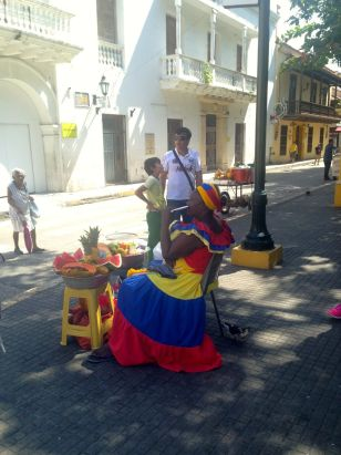 Vendor in Cartagena