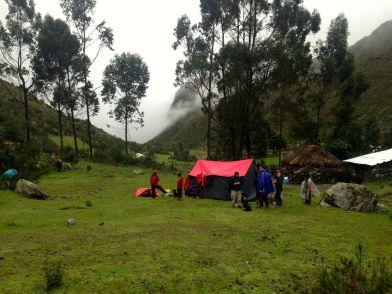 Lares Trek Day 1 Tent