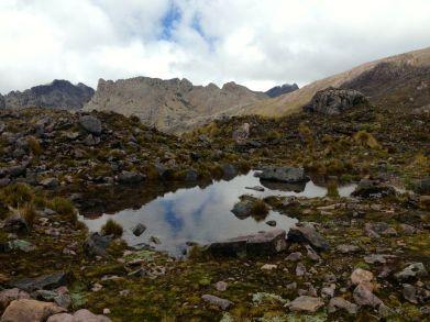 Lares Trek Day 2 Lake Reflection
