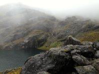 Lares Trek Day 2 Large Lake Fog
