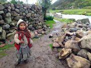 Lares Trek Day 2 Village girl