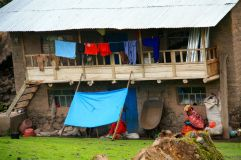 Lares Trek Day 2 Village house