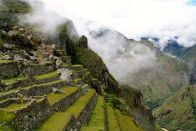 Machu Picchu Terraces side