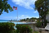Blue Waters Antigua Flag