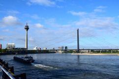 Dusseldorf Rheinturm View over Rhine