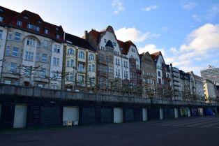 Dusseldorf Rhine Promenade Houses