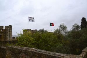 Lisbon Castelo de St Jorge Flags